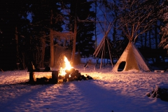 Tipi im Winter